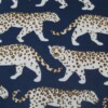 Blue Leopard Outdoor Indoor Cushion Bungalow Living 1