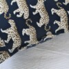 Blue Leopard Outdoor Indoor Cushion Bungalow Living 2
