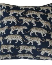 Blue Leopard Outdoor Indoor Cushion Bungalow Living