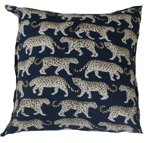 Blue Leopard Outdoor Indoor Cushion Bungalow Living