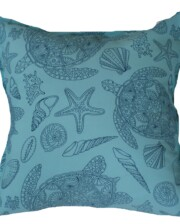 Aqua & Blue Turtle Bungalow Living Outdoor Cushions Australia 1