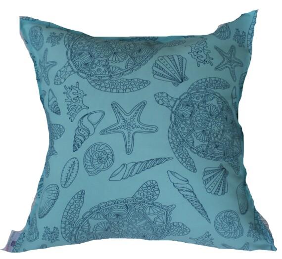 Aqua & Blue Turtle Bungalow Living Outdoor Cushions Australia 1