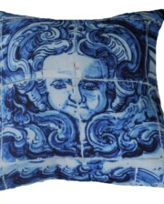 Lisboa Tile Angel Face Outdoor Cushion Bungalow Living Australia