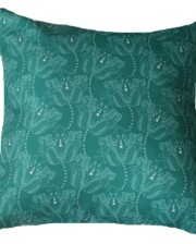 Green & White Dot Floral Outdoor Cushion Bungalow Living Australia