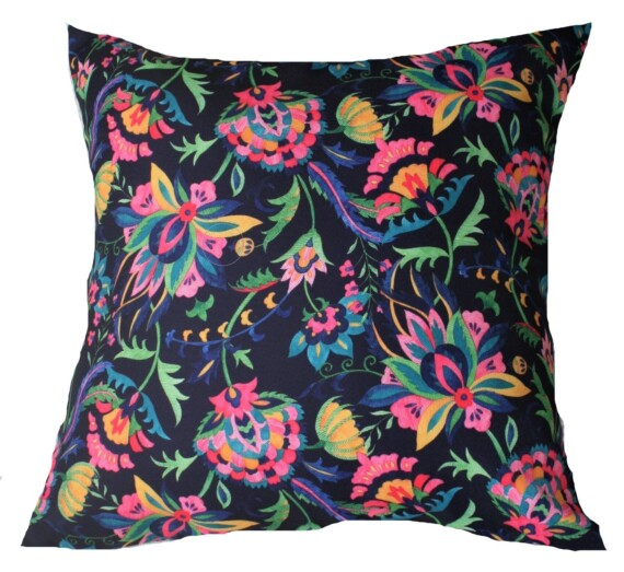 Navy Suzanni Flora Outdoor Cushion 42 CM Bungalow Living Australia