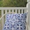 Lisboa Tile 60 CM Square Bungalow Living Outdoor Cushion Australia