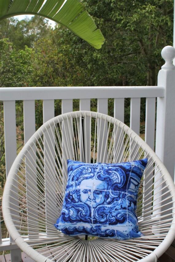 Lisboa Tile Angel Face Outdoor Cushion Bungalow Living Australia 4