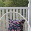 Navy Suzanni Flora Outdoor Cushion 42 CM Bungalow Living Australia 2