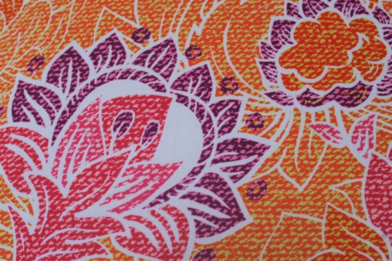 Orange & Pink Batik Floral 42 CM Bungalow Living Outdoor Cushion Australia