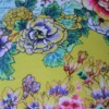 Yellow Chinoiserie 42 CM Square Outdoor Cushion Bungalow Living Australia 1
