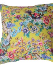 Yellow Chinoiserie 42 CM Square Outdoor Cushion Bungalow Living Australia